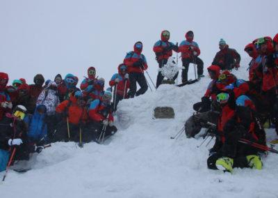 Am Gipfel der Schneekoppe- Eine Gedenktafel für verunglückte und verstorbene tschechische Bergretter