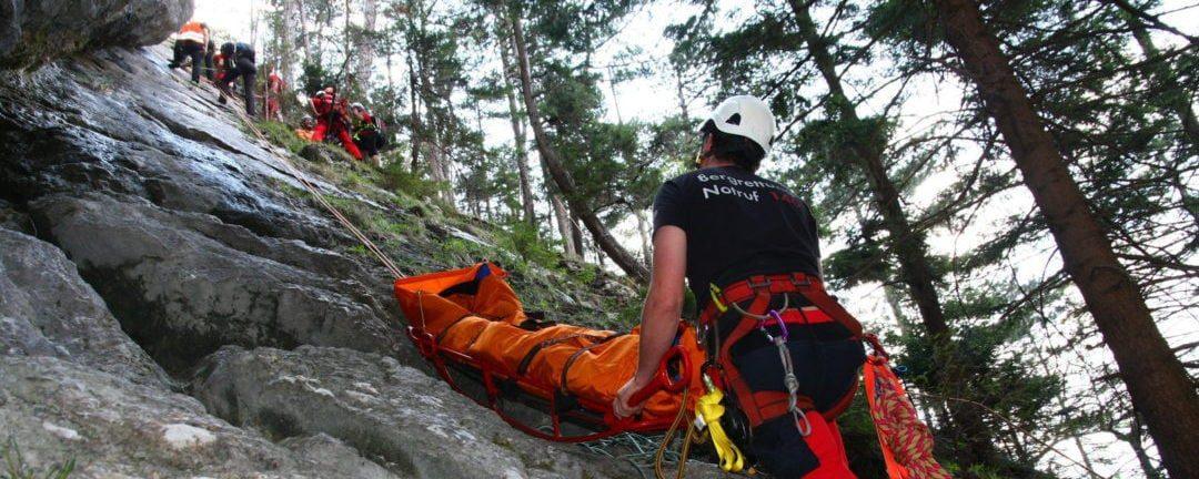 Bergrettung übt Großalarm in Schottwien und in Pernitz