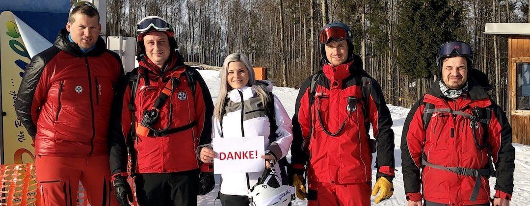 Ski-Tourengeherin: Taubergung mit Rettungshubschrauber