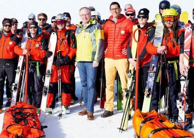 Stephan Pernkopf und Matthias Cernusca am Winterkurs der Bergrettung.