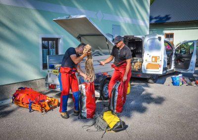 Einsatzübung mit Heer, Höhlenrettung und Feuerwehr 29
